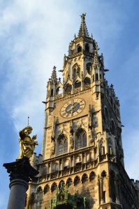 Glockenspiel at the New Town Hall, Marienplatz, Munich/Germany