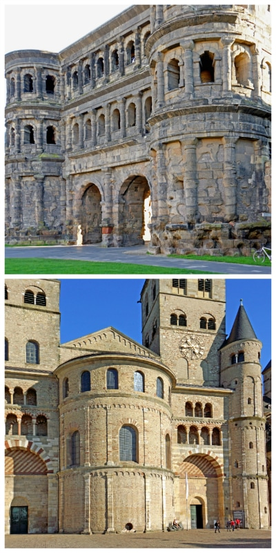 Historic Cities Rhine Mosel Tour, Porta Nigra and Trier Cathedral in Trier Germany to-europe.com
