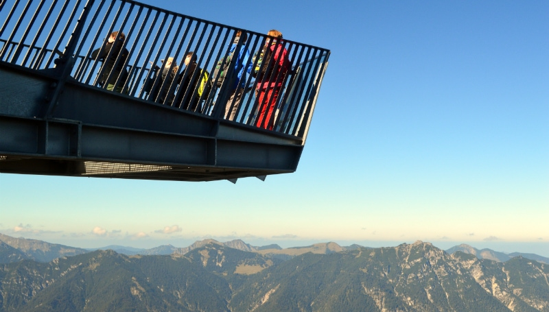The Alps Zugspitz Daytrip by Rail, AlpspiX viewing platform near Garmisch-Partenkirchen