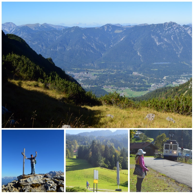 From Osterfeldkopf to Kreutzeck-Alpsitzbahn from where the Zugspitzbahn takes you back to Garmisch