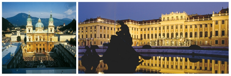 Schoenbrunn Palace and Church of Mariahilf Vienna Austria to-europe.com