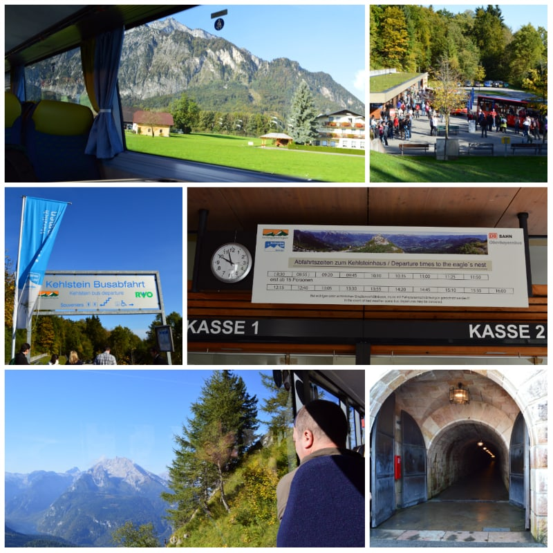 eagles nest daytrip, Up to the Eagles Nest by bus and elevator