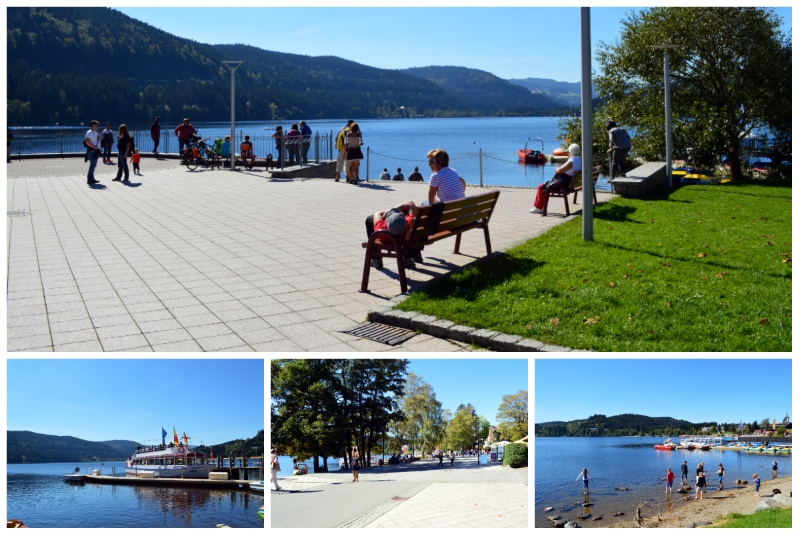 Historic Highlights Wine Rail Tour,Lake Titisee shores in the Black Forest near Freiburg Germany