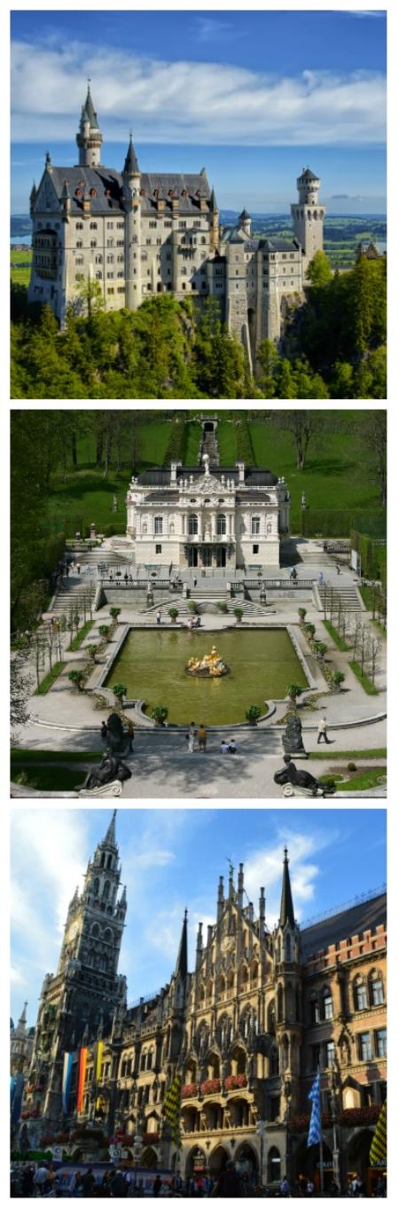 Romantic Road Tour, Neuschwanstein Castle Oberammergau, Linderhof Palace Ettal, Munich New Town Hall Germany to-europe.com