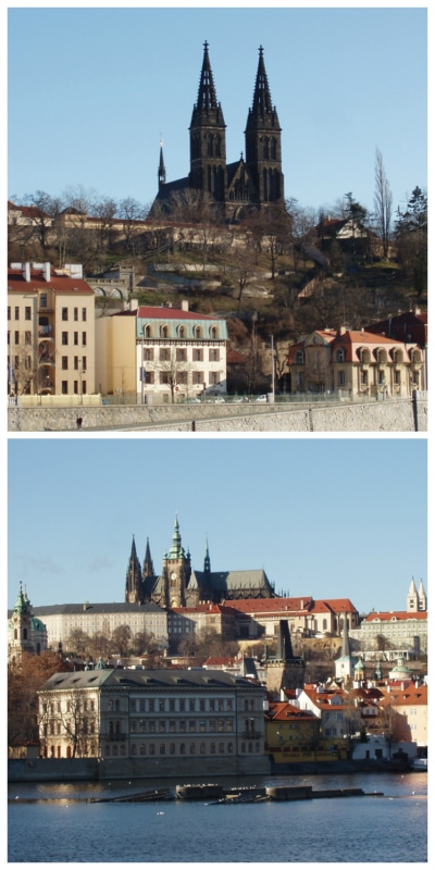Prague Castle and Church of Ludmilla Czech to-europe.com