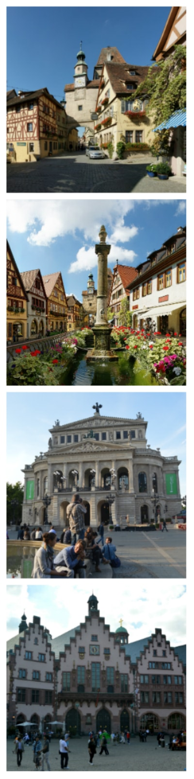 Rothenburg ob der Tauber and Roemerberg and Concert House in Frankfurt Germany To-europe.com