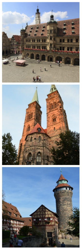 Bavarian Castles Stays Self-Drive Tour, Town Hall of Rotheburg ob der Tauber, Sebaldus Church and Imperial Castle in Nuremberg Germany