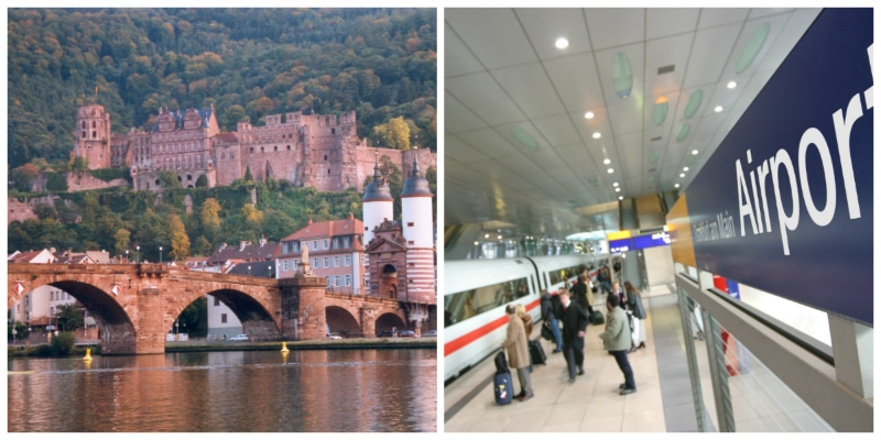 Heidelberg Castle, Old Bridge and Frankfurt Int. Airport