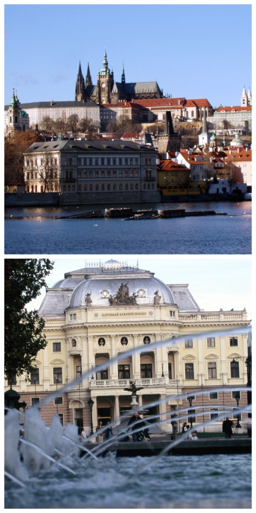 Prague Castle Czech Republic Bratislava National Theatre Opera House Slowakia