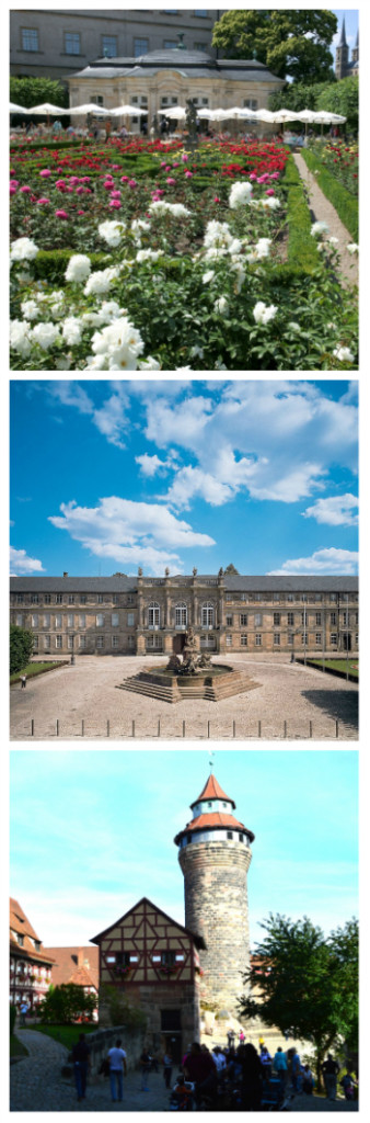 Bamberg Residence and Rose Garden, New Palace Bayreuth, Imperial Castle Nuremberg Germany to-europe.com