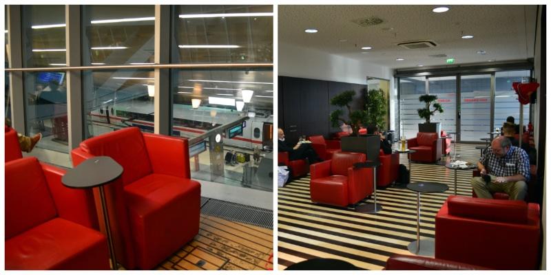 DB German Rail First-class Lounge at Frankfurt International Airport