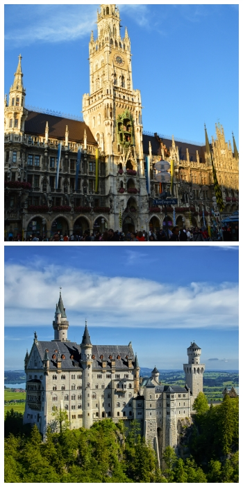 Munich New Town Hall and Neuschwanstein Castle Bavaria Germany to-europe.com