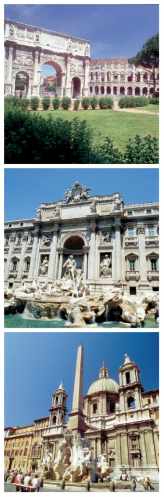 Frankfurt to Rome Rail Tour, Rome Colosseum, Piazza Navona, Fontana di Trevi Italy to-europe.com